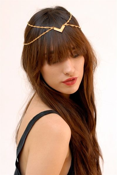 i really like this and it will probably be easy to diy too: Chains Headpieces, Tribal Gold, Head Pieces, Head Jewellery, Accessor, Gold Headpieces, Tribal Headpieces, Headpieces Jewelry, Hair