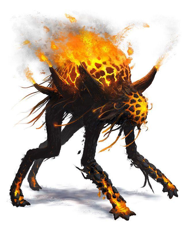 ArtStation - Othnorian Firewalker - Creature Design, Nicholas Cloister
