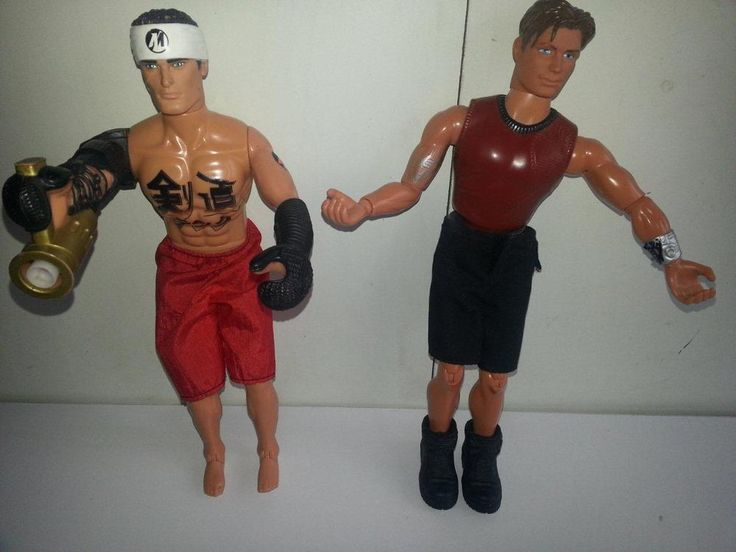 "2 x 12"" Action Figures, Hasbro Action Man & Mattel  Max Steel"