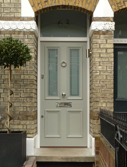 London Doors, Front Door, Victorian / Edwardian Door - slightly warm paint colour would be nice, but this is the sort of thing we want