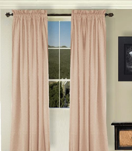 Great Solid Peach Apricot Colored Window Long Curtain (available In Many Lengths  And 3 Rod Pocket Sizes)  This Solid Peach Apricot Colored Long Window  Curtain Is ...