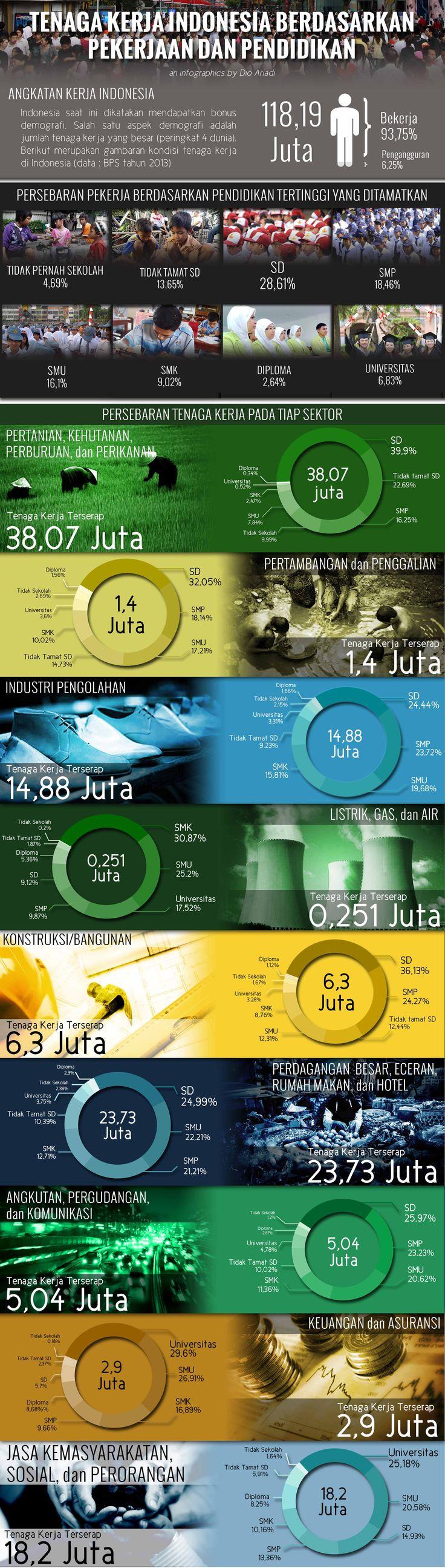 Sebuah infografis mengenai ketenaga kerjaan di Indonesia