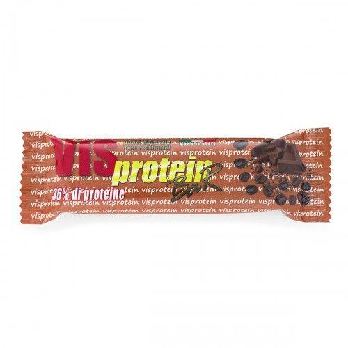 VIS PROTEIN barretta proteica al cioccolato al latte e mokaccino 50gr 36% di proteine