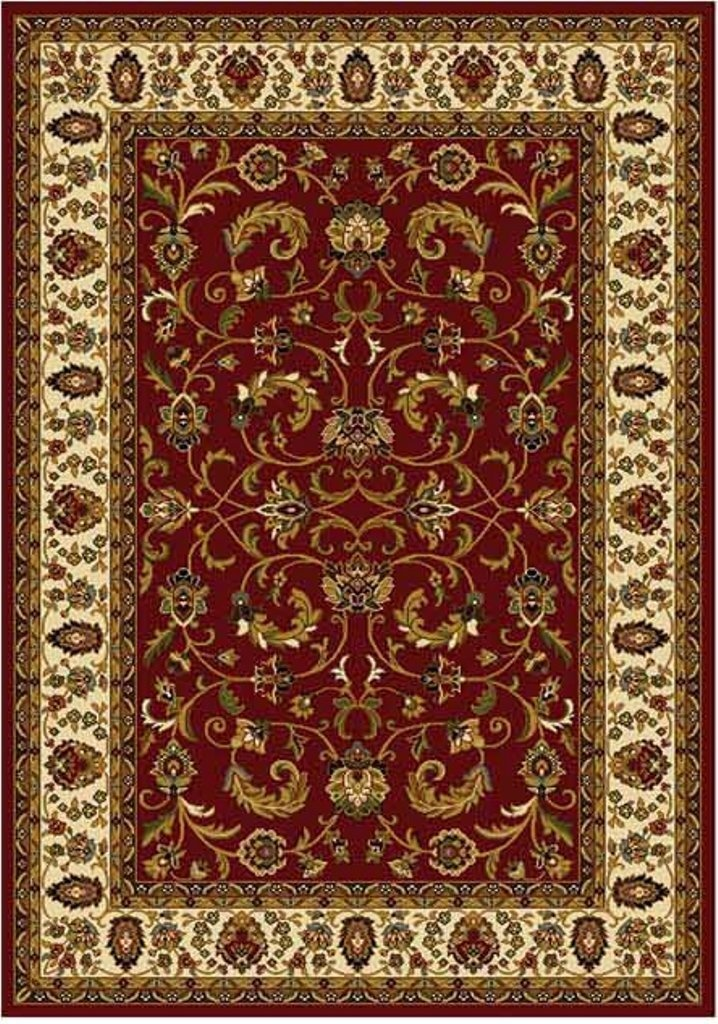 Persian Red Cream Area Rug 6x8 Oriental Carpet 08 Actual 5 2 X 7