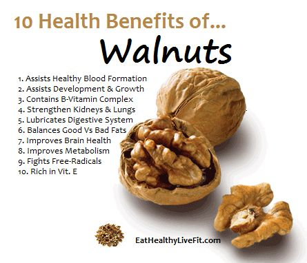 The Health Benefits of Walnuts | Eating Healthy & Living Fit | EatHealthyLiveFit.com