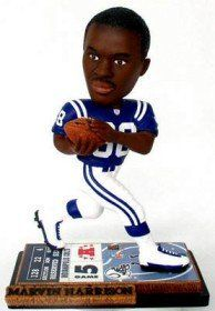 Indianapolis Colts Marvin Harrison Forever Collectibles On Field Bobblehead