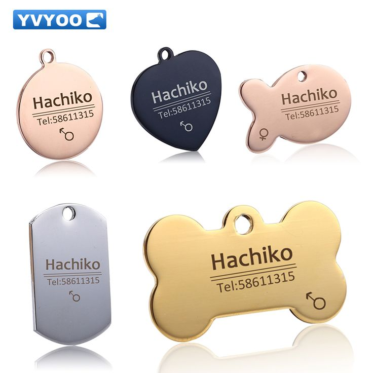 YVYOO Free engraving Pet Dog cat collar accessories Decoration Pet ID Dog Tags Collars stainless steel  cat tag customized tag //Price: $8.99 & FREE Shipping //     #hashtag1