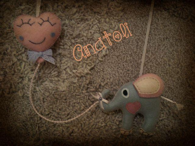 felt elephant -baloon