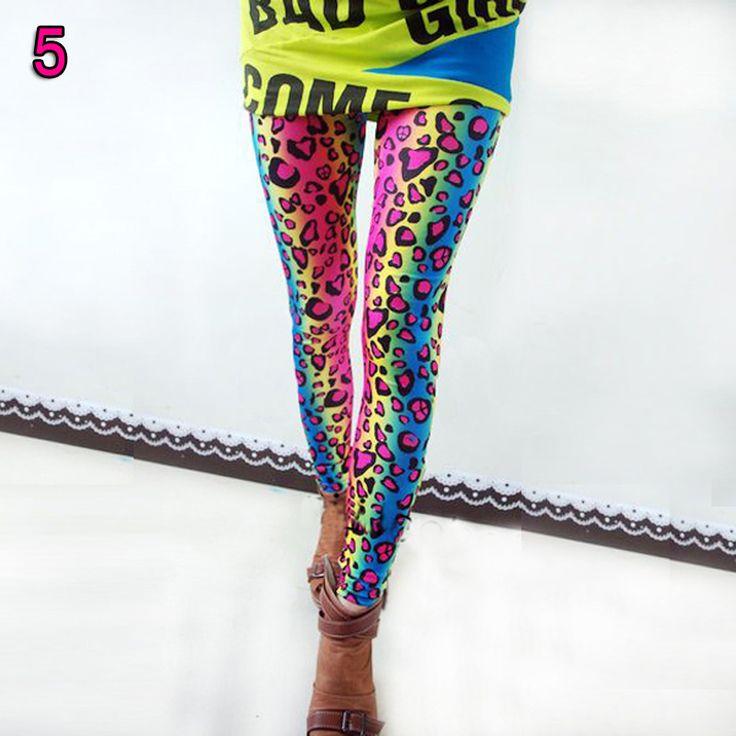 Uhmmm, yea! <3 (: Rainbow, Leopard Print, Colorful Leggings!