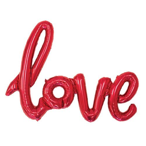 Love Red Script Foil Balloon By North Star Balloons | The Original Party Bag Company