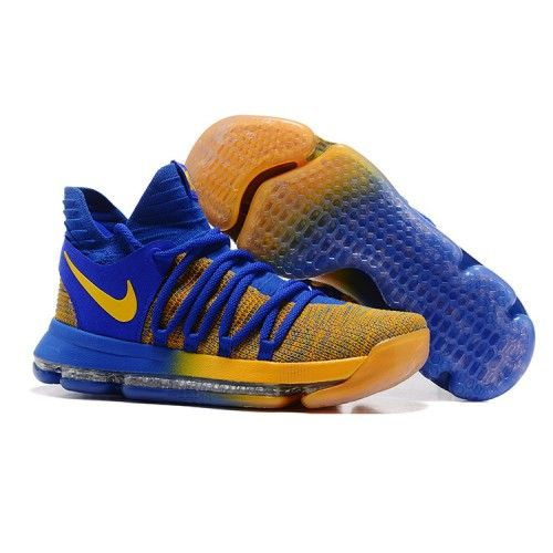 ac032fcc5ba85b Nike kevin durant kd 10 basketball shoes blue yellow in 2019
