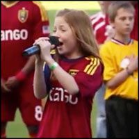 One of America's Future Stars Sings the National Anthem - WOW brought me to tears...love her feeling it while singing it...go get em girl!!!!!