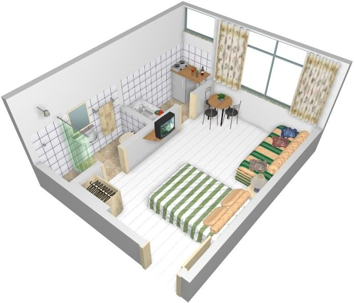 10 modelos de quitinetes modelos foto planos de casas for Ideas de construccion de casas pequenas