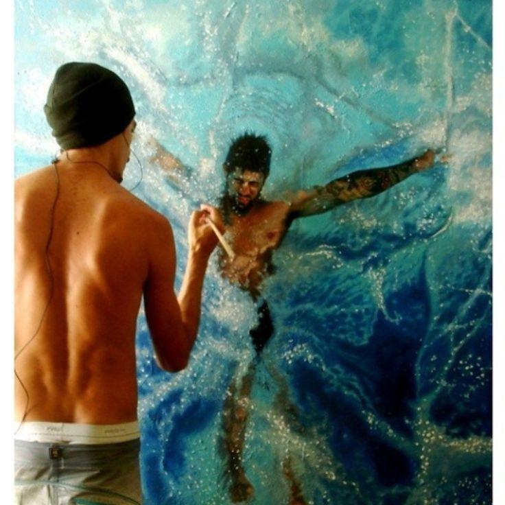 Hyperrealistic Oil Paintings Of People Swimming By Gustavo Silva - Hyper realistic paintings nunez