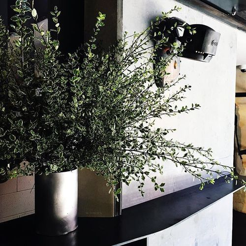 MyFlowerMan | Restaurant Flowers | Greenery | Steel Vase | MyFlowerMan | Automata Sydney   #MyFlowerMan www.myflowerman.com.au