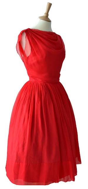 vintage red prom dress. this is gorgeous...can it be longer?!