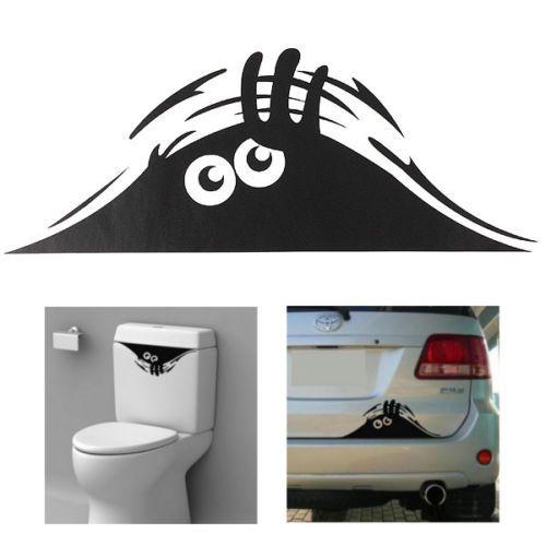 D tails sur sticker autocollant cuvette wc toilettes salle - Autocollant salle de bain ...