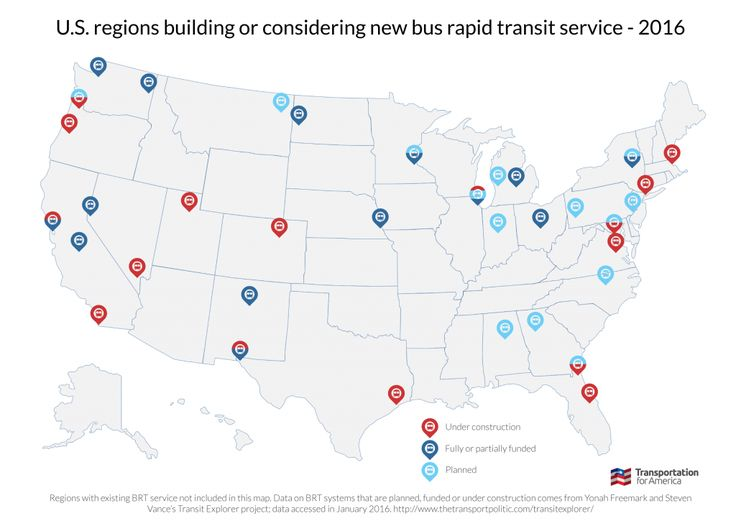 New study finds positive economic development benefits associated with bus rapid transit projects
