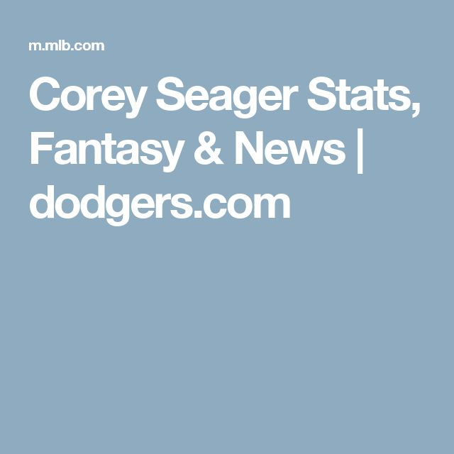 Corey Seager Stats, Fantasy & News | dodgers.com