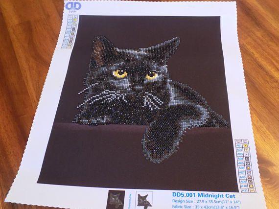 chat noir f lin produit fini maison d coration pr t home decor pinterest chats noirs. Black Bedroom Furniture Sets. Home Design Ideas