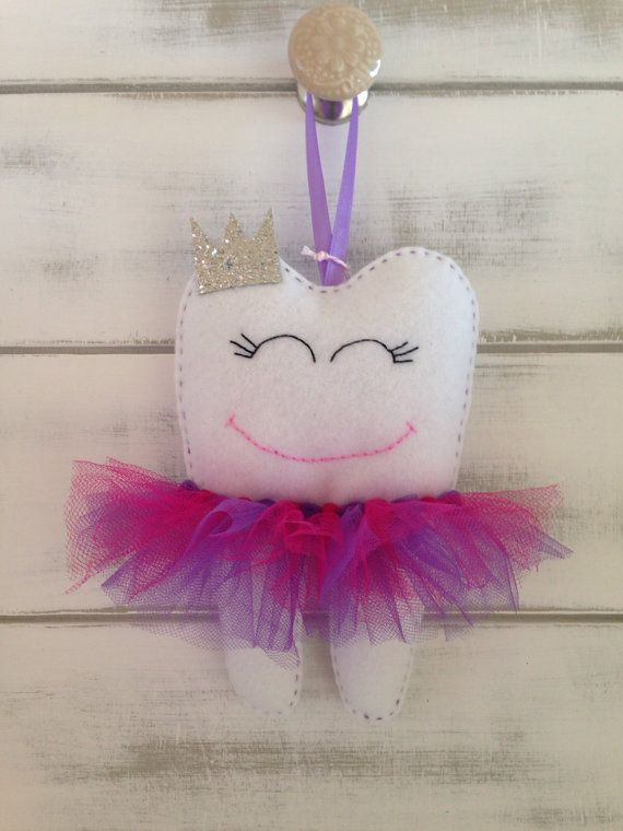 Personalised Tutu Tooth Fairy Pillow with by RubyLewisDesigns