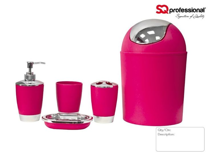 Best Pink Bathroom Accessories Images On Pinterest Pink - Pink and blue bathroom accessories