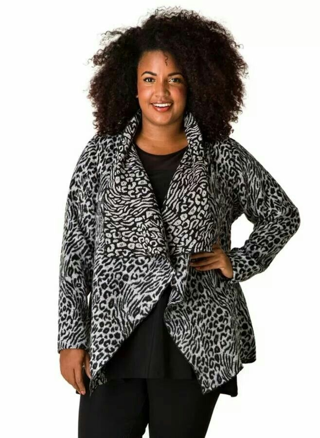 Black and White Cheetah Print Sweater - Plus Size - Curvy Fashion - Bold - Unique - Renegade