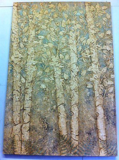 raised plaster stencils c/o Victoria Larsen.