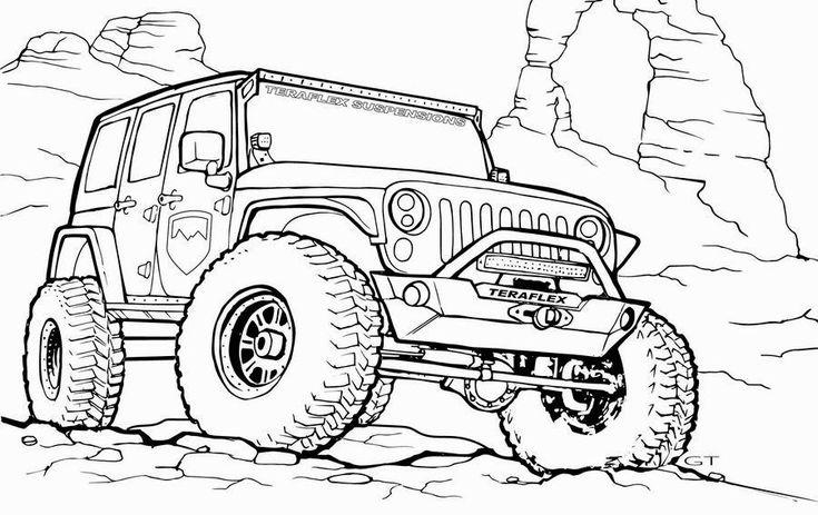 kleurplaat coole jeep zoeken kleurplaten jeep