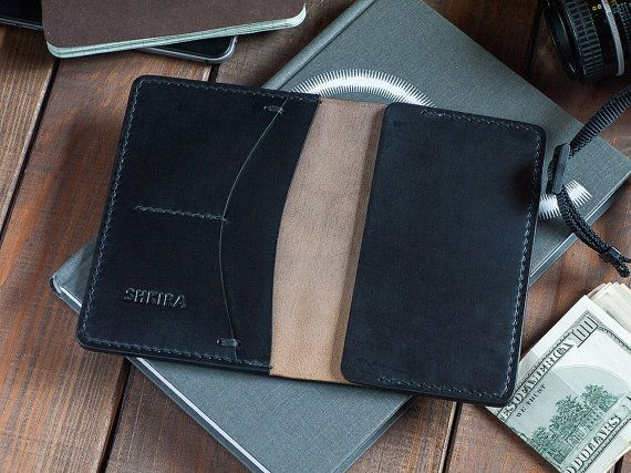 Field Notes Cover Wallet Black Horween Chromexcel by SHKIRA