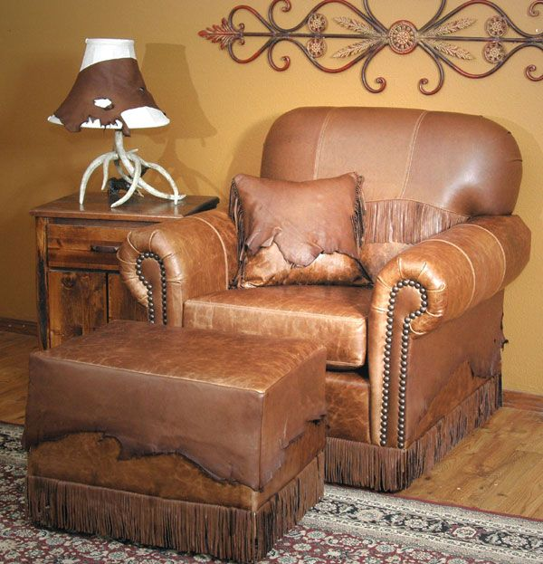 Butte Leather Chair And Ottoman