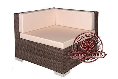 РОТАНГ УГЛОВОЙ|МОДУЛЬ «УГЛОВОЙ» Особое место сейчас на пьедестале популярной мебели занимает угловой плетеный диван, который так же может быть изготовлен из элегантного искусственного ротанга. Такой диван возможно составить из нескольких одно- и двухместных модулей, позволяющих удобно расположить 5-6 человек и дополнительный угловой модуль. Мебель из  искусственного ротанга удобная и хорошо вписывается в обстановку комнаты. За счёт модульной конструкции мебель можно расположить абсолютно по…