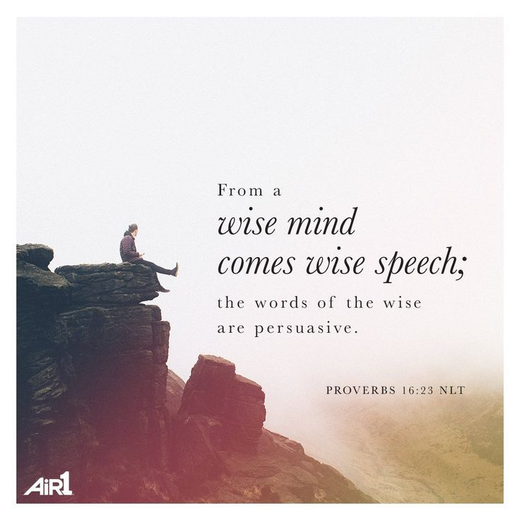 Wisdom Sayings & Quotes    QUOTATION – Image :    Quotes Of the day  – Description  Proverbs 16:23  Sharing is Caring – Don't forget to share this quote with those Who Matter !
