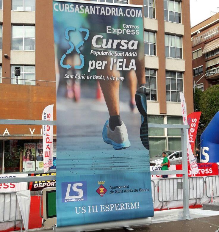 Carrera 10k ELA Sant Adrià del Besòs. Corrió Arcadi Alibes Periodista. Excelente organización gracias a José Luis Blanco La Sansi. #segurvial #aprendo112 #Tubellezapp