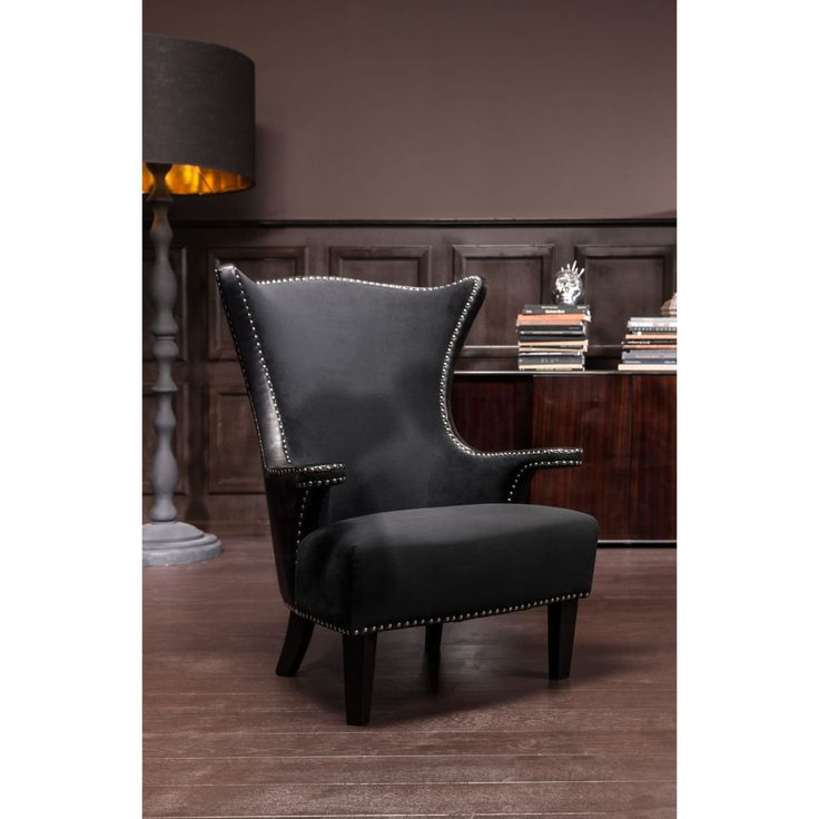 Rivet Black Armchair • WOO Design