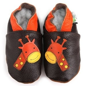 AUGUSTA BABY Baby Boys Girls First Walker Soft Sole Leather Baby Shoes - Snowman green - EU Size 20 QvNyrB2