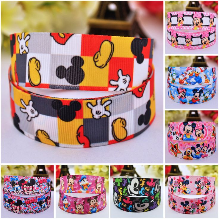 7/8'' (22mm) Ruban Mickey Minnie Cartoon Character printed Grosgrain Ribbon party decoration satin ribbons OEM 10 Yards-in Ribbons from Home & Garden on Aliexpress.com | Alibaba Group
