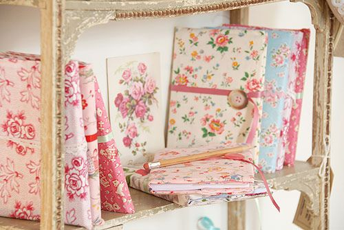"""I'm pretty sure we called these """"pledge books"""" but this is a nice name too Fabric Covered Notebooks"""