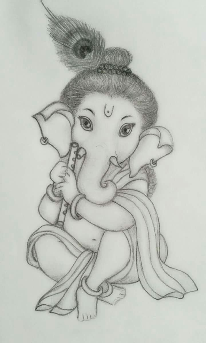 Sri ganesha pencil sketch