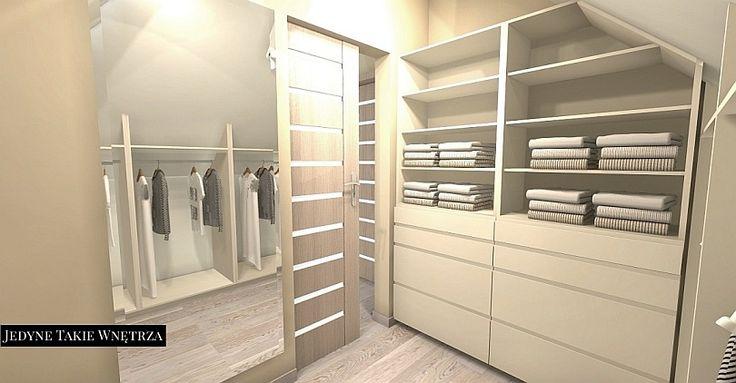 Nowoczesna i przytulna sypialnia z garderobą na poddaszu