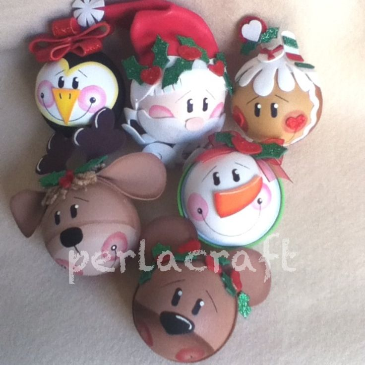 Craft foam Christmas balls
