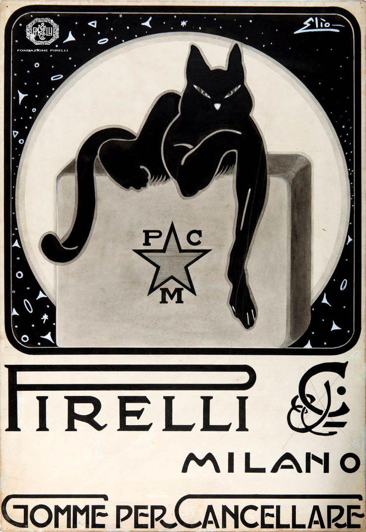 Elio, advertisement for Pirelli rubber erasers, 1920s http://www.fondazionepirelli.org