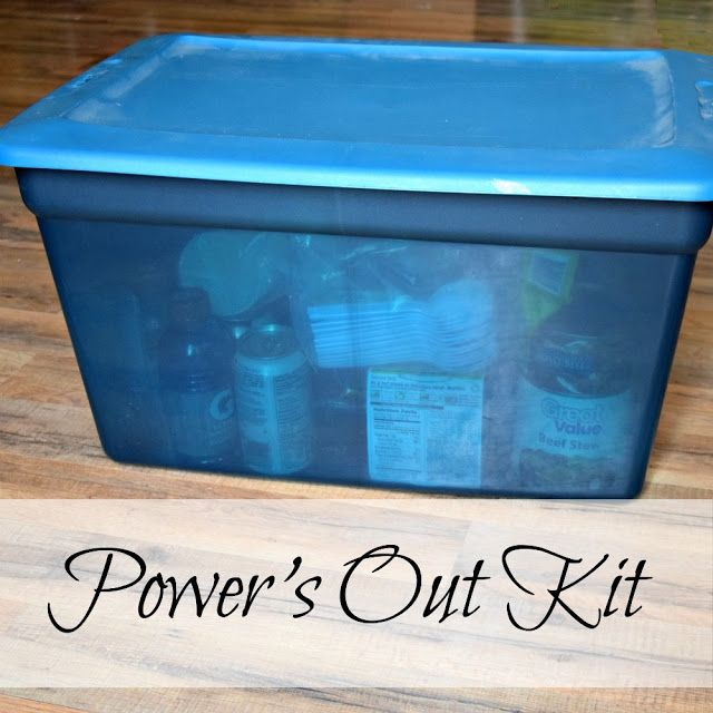 Power's Out Kit - When the power goes out, we're ready with easy-to-cook foods and supplies.