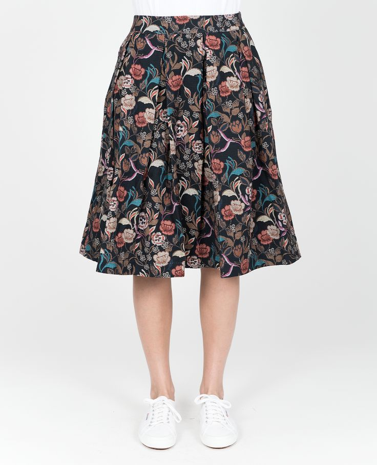 R-Collection Midi flower skirt
