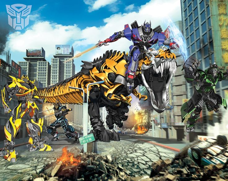 Walltastic 8 x 10 ft Walltastic Transformers: Age of Extinction Wall Mural