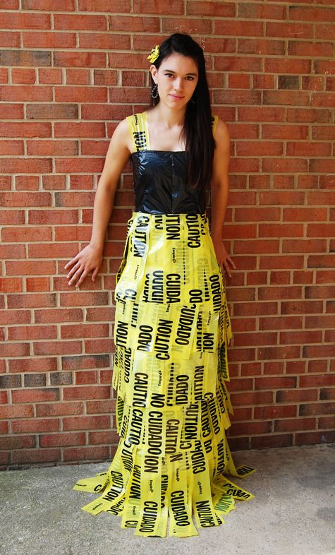 caution tape dress - Google Search