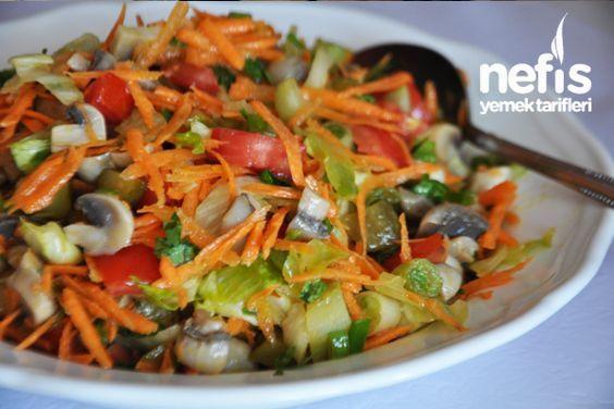 Mantarlı Salata Tarifi nasıl yapılır? 3.760 kişinin defterindeki Mantarlı Salata Tarifi'nin resimli anlatımı ve deneyenlerin fotoğrafları burada. Yazar: Elif Atalar