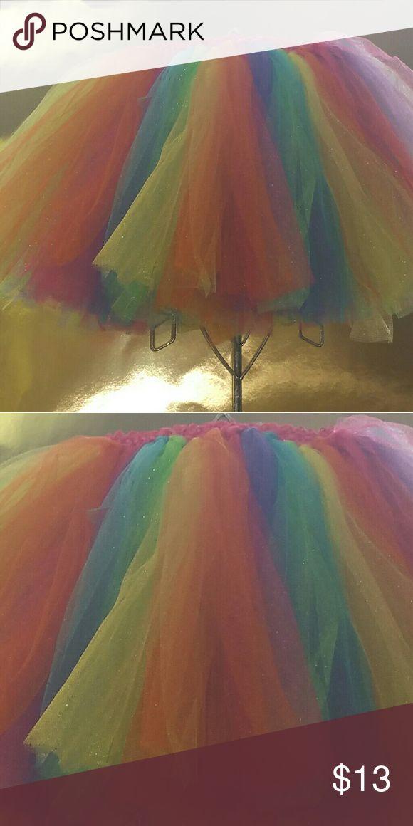 Neon 4t -5t Tutu Festive & Vibrant. Two-layer of tulle tutu. Handmade Bottoms Skirts