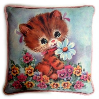 Kitty Cat Vintage Cushion Cover - so so cute!!