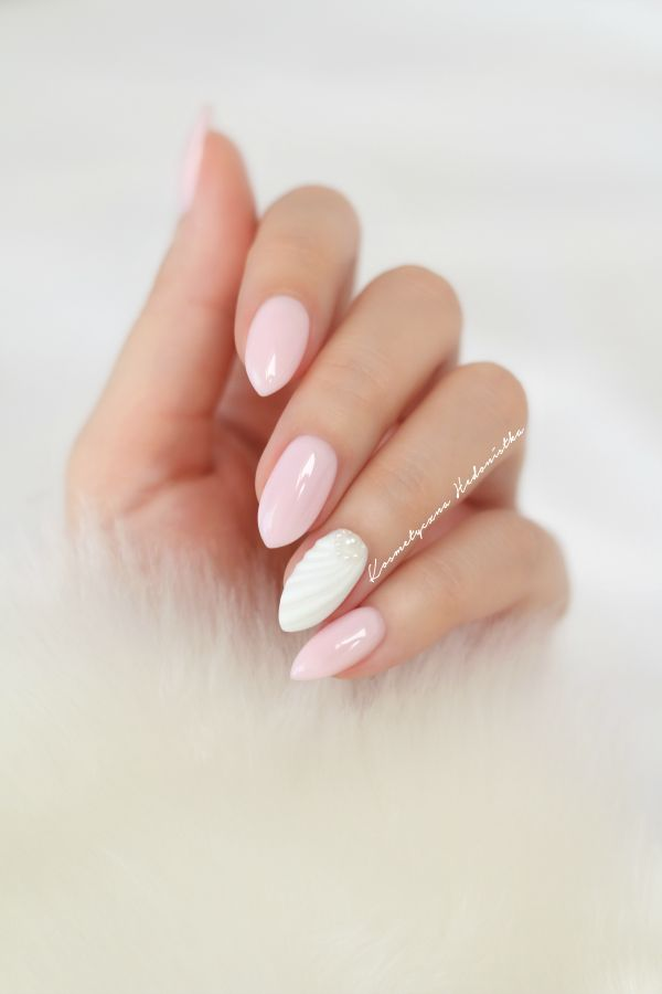 Semilac Pink Marshmallow i Semilac Strong White